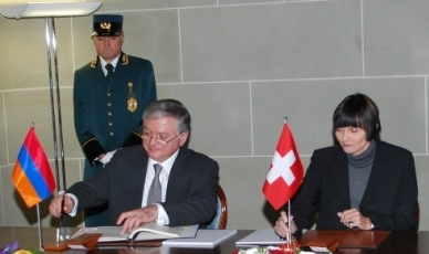 Հայաստանի և Շվեյցարիայի միջև ստորագրվել են  երկկողմ համաձայնագրեր