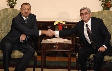 Սարգսյանն ու Ալիևը բանակցել են Ղարաբաղի վերաբերյալ շրջանակային պայմանագրի շուրջ