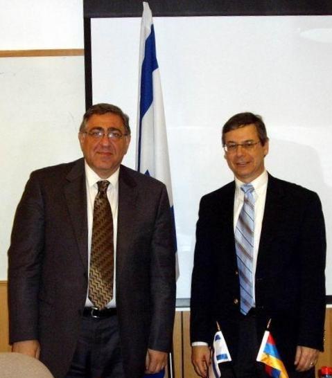 Визит делегации во главе с вице - министром  индел Армении Арманом Киракосяном в Израиль.