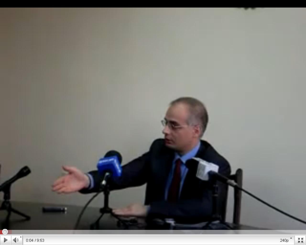 Отрывок из пресс-конференции Левона Зурабяна