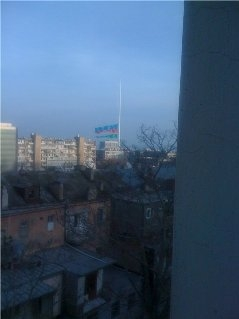 Ադրբեջանի դրոշը հերթական անգամ պատռվել է
