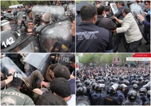 Ժողովուրդը Բաղրամյան փողոցում ոստիկիանության դեմ մնացել էր առանց «բարևի» առաջնորդի. Րաֆֆին «զորավարի» հետ աղոթքի էր գնացել (տեսանյութ)