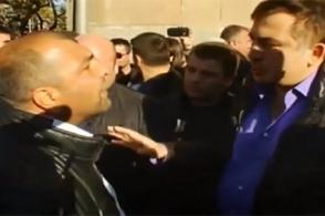 Между Михаилом Саакашвили и Ваагном Чахаляном завязалась словесная перепалка