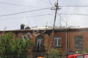 Հրդեհ Թբիլիսյան խճուղում (լուսանկարներ)