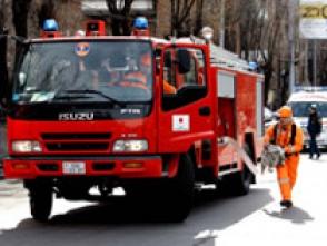 Լվովյան փողոցում խոտածածկ տարածք է այրվել