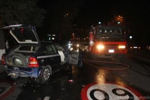 Բախվել են «Լիճք» տաքսի ծառայության «Opel Astra G»–ն և «Toyota Camry»–ն (լուսանկար)