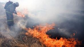 Ռազմական ոստիկանության մոտ այրվել է մոտ 300 քմ խոտածածկ տարածք