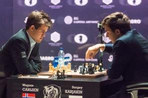 Карякин проиграл Карлсену в десятой партии матча за шахматную корону