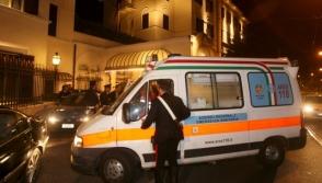 В Италии автобус с детьми врезался в столб и загорелся (видео)
