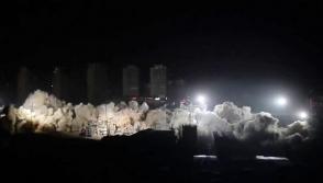 Չինաստանում մի քանի վայրկյանում մի ամբողջ թաղամաս է հօդս ցնդել (տեսանյութ)