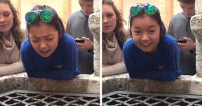 17–ամյա աղջիկը կատարում է «Հալելույա» երգը ջրհորի մեջ