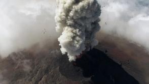 Извержение вулкана в Гватемале сняли с беспилотника