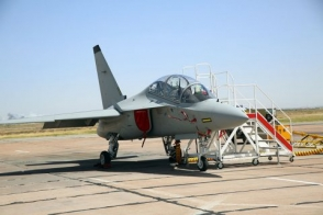 Ադրբեջանում ներկայացրել են իտալական ուսումնամարտական նոր ինքնաթիռ