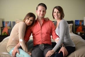 Բրիտանացին, որը մահճակալը կիսում է 2 ընկերուհու հետ, պատրաստվում է կրկին հայրանալ (լուսանկարներ)