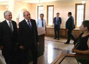 Բակո Սահակյանն ու Էդվարդ Նալբանդյանը քննարկել են ԼՂ հակամարտության կարգավորման հարցը