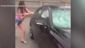 Վրդովված կինը ջարդուփշուր է արել իրեն դավաճանած ամուսնու BMW-ն