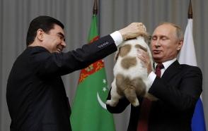 Թուրքմենստանի նախագահը Վլադիմիր Պուտինին շուն է նվիրել (տեսանյութ)