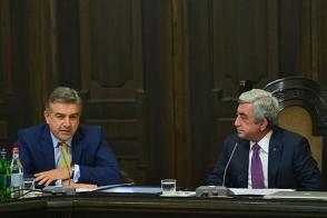 Սերժ Սարգսյանի ու Կարեն Կարապետյանի «մեսիջները»