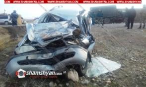 Խոշոր ավտովթար Արարատի մարզում. Opel-ը բախվել է ՀՀ ՊՆ ЗИЛ 131-ին. կան վիրավորներ