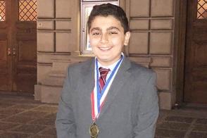 7-րդ դասարանցի հայ տղան ԱՄՆ-ի գիտական մրցույթում լավագույնն է ճանաչվել