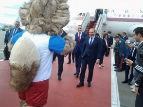 Փաշինյանին Մոսկվայում դիմավորել է նաև «Զաբիվակա» գայլը (տեսանյութ)