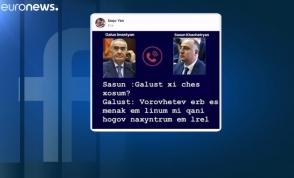 Euronews-ը շփոթել է Գալուստ Սահակյանին Արթուր Վանեցյանի հետ (տեսանյութ)