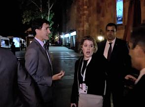 Премьер Канады заблудился на улице Вазгена Саркисяна (видео)