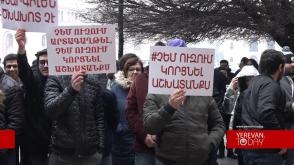 Նարգիլե պատրաստողներն ու մատուցողները կառավարության դիմաց բողոքի ցույց էին անում (տեսանյութ)