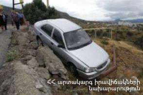 Սարավան-«Զանգեր» հատվածում ավտոմեքենան ընկել է ձորը