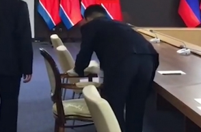 Стул Ким Чен Ына протерли спиртом до переговоров с Путиным