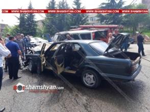 Տավուշի մարզում բախվել են Mercedes-ն ու УАЗ-ը. կա վիրավոր