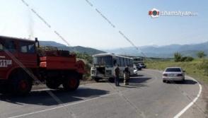 Էքսկուրսիա մեկնող ավտոբուսում հրդեհ է բռնկվել
