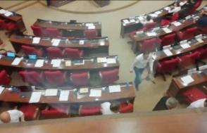 ППА демонстративно покинула зал заседаний парламента (видео)