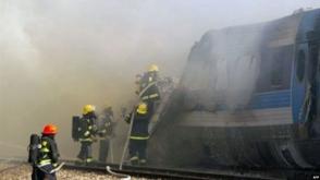 Հրդեհ է բռնկվել Բաքու-Թբիլիսի գնացքի վրա