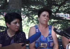 Члены семей задержанных после событий в Иджеване проводят акцию протеста (видео)