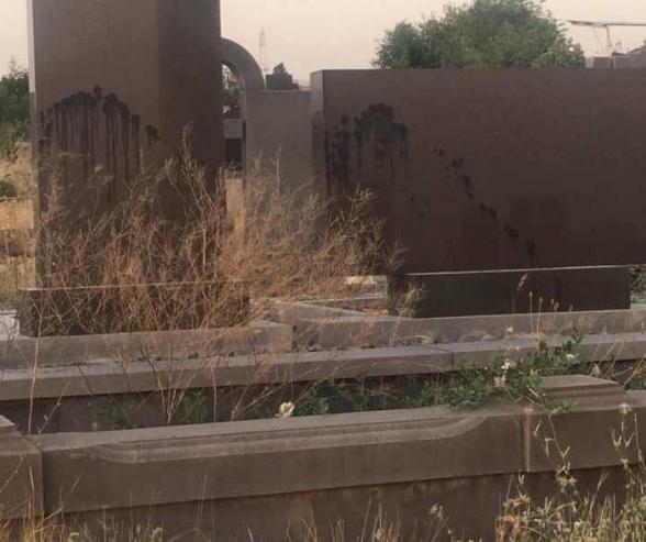 Նուբարաշենի գերեզմանատանը ինչ-որ սատանայական ծեսեր են իրականացրել․ Տեր Բարդուղիմեոս քահանա Հակոբյան (լուսանկարներ)