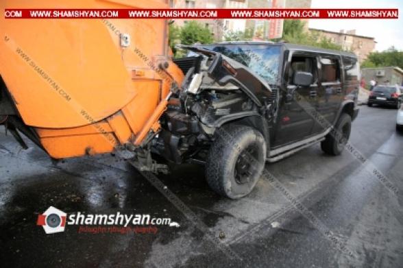 Երևանում Hummer-ի 43-ամյա վարորդը խմած վիճակում բախվել է աղբատար Volvo-ին․ կա վիրավոր