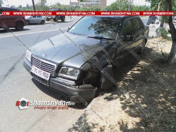 Երևանում Mercedes-ը վրաերթի է ենթարկել Նոր Նորքի թաղապետարանի աշխատակցին ու բախվել բազալտե քարերին