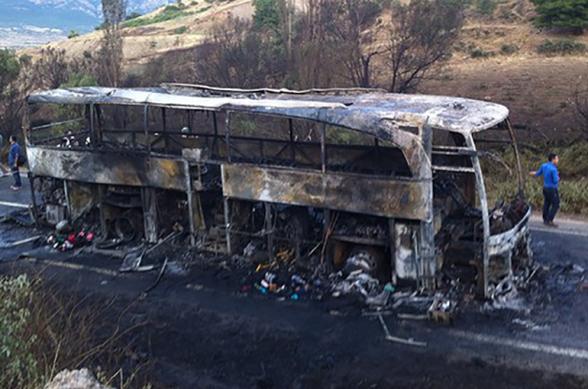 Թուրքիայում ուղևորատար ավտոբուսի հրդեհվելու հետևանքով 5 մարդ զոհվել է, 15-ը՝ տուժել