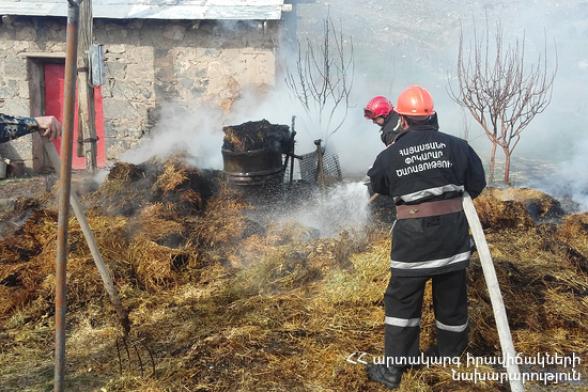 Այգեհատ գյուղում այրվել է մոտ 150 հակ անասնակեր