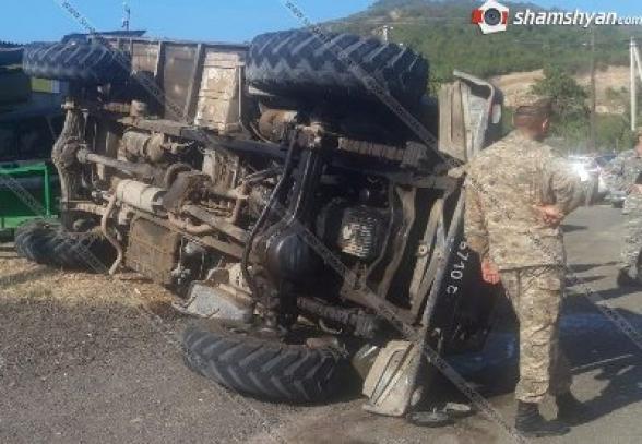 В Тавуше перевернулся армейский грузовик: 11 человек госпитализированы (фото)