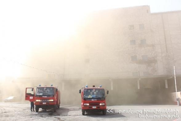 Սառնարանների պահեստում բռնկված հրդեհի հրդեհաշիջման աշխատանքները շարունակվում են