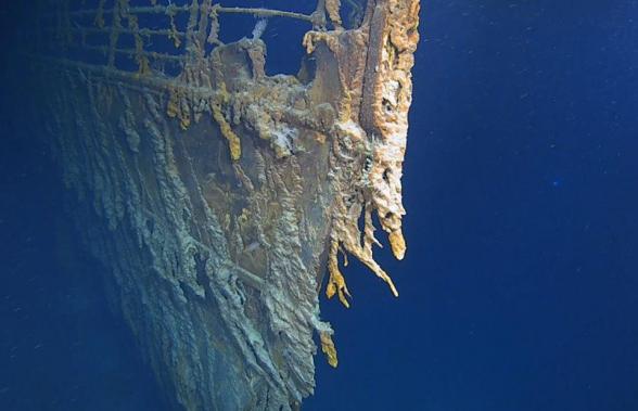 Опубликовано видео разрушающегося на дне Атлантики «Титаника»