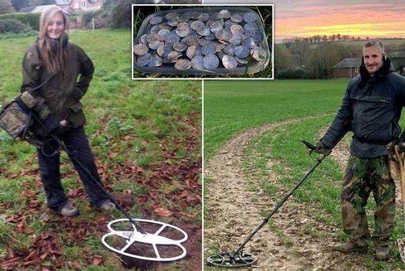 Пара из Британии нашла клад стоимостью 5 млн фунтов стерлингов в чистом поле
