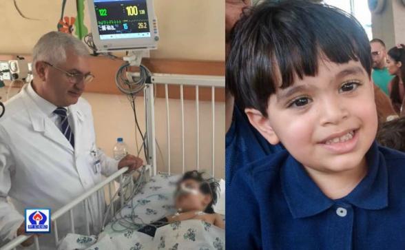 Thank you. Երևանում 6-րդ հարկից ընկած 2.5 տարեկան տղան շնորհակալություն է հայտնել աղոթքների համար