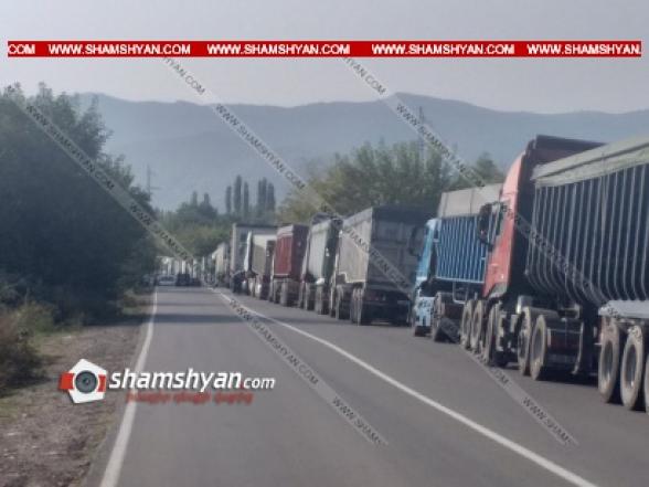 Վրաստանում 300-ից ավելի հայկական բեռնատարներ չեն կարողանում առաջ շարժվել (տեսանյութ)