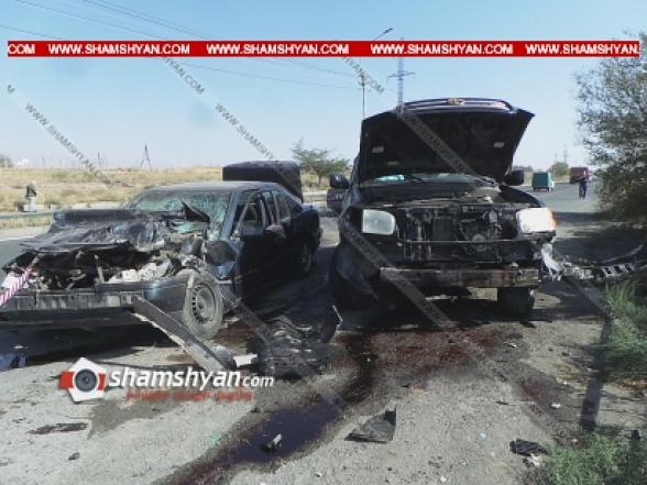 Արմավիրի մարզում բախվել են Toyota Sequoia-ն ու Mercedes-ը. կան վիրավորներ (տեսանյութ)