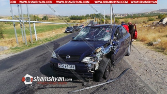 Կոտայքի մարզում ճակատ-ճակատի բախվել են Opel-ն ու ВАЗ 2107-ը. կան վիրավորներ