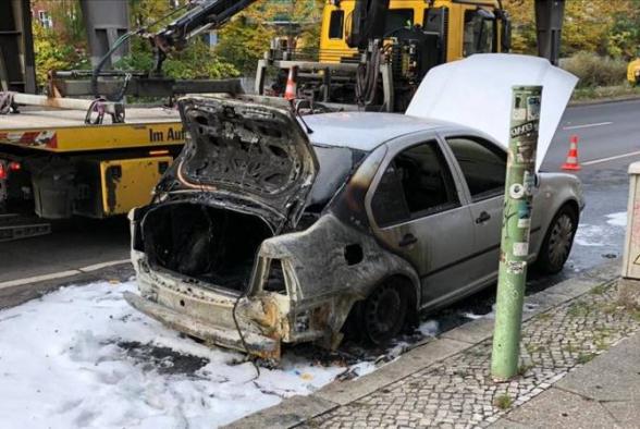 Անհայտ անձինք Բեռլինում հրկիզել են Թուրքիայի դեսպանության ավտոմեքենան