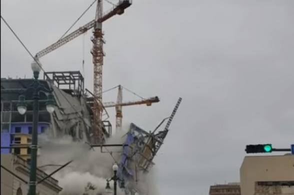 В Новом Орлеане развалился строящийся отель
